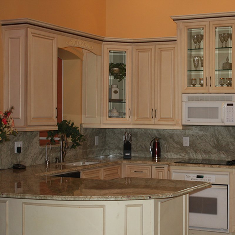 French Vanilla Cabinets Kitchen Granite And Stone