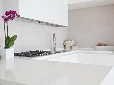 White Kitchen Countertops in South Florida