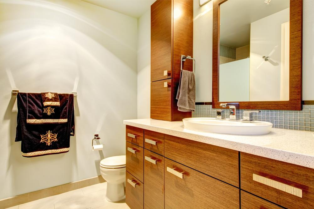 Real Wood Bathroom Cabinets