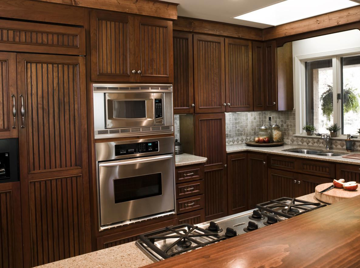 and countertops the kitchen cherry beauty of granite cabinets