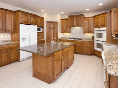 Dream Kitchen With Granite Counters, Hardwood Cabinetry, Custom Lighting