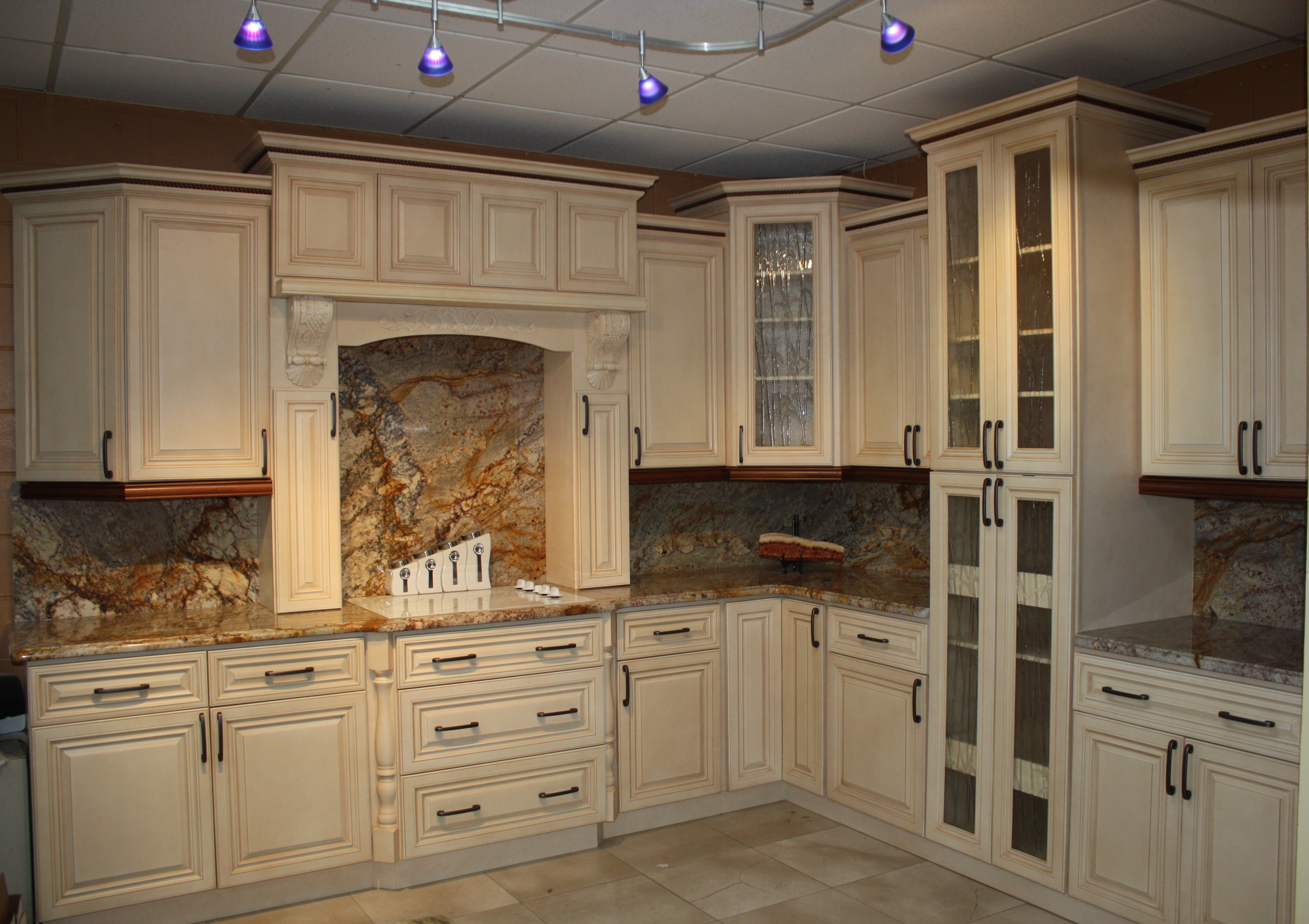 Antique White Cabinets Stone International