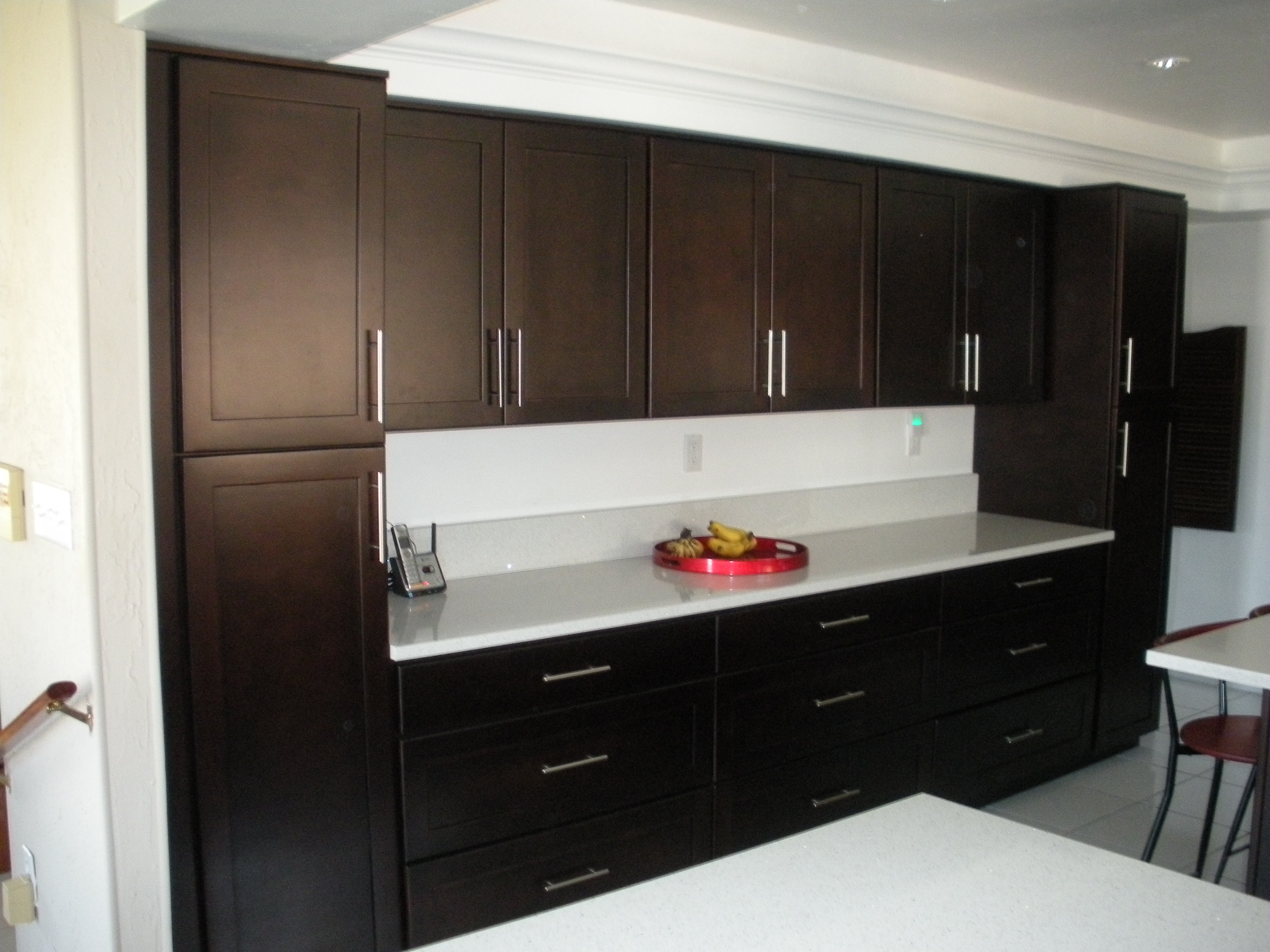Dark Kitchen Cabinets Stone International Espresso Cabinets
