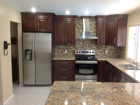 Kitchen Cabinets Whole Mocha, Mocha Kitchen Cabinets With Granite