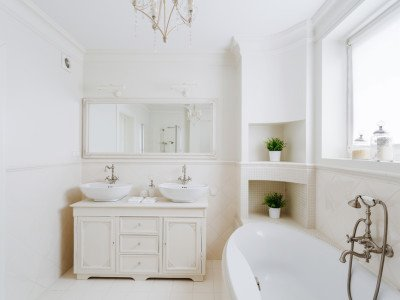 Bathroom Renovations in Miami , White Bathroom Renovations in Miami