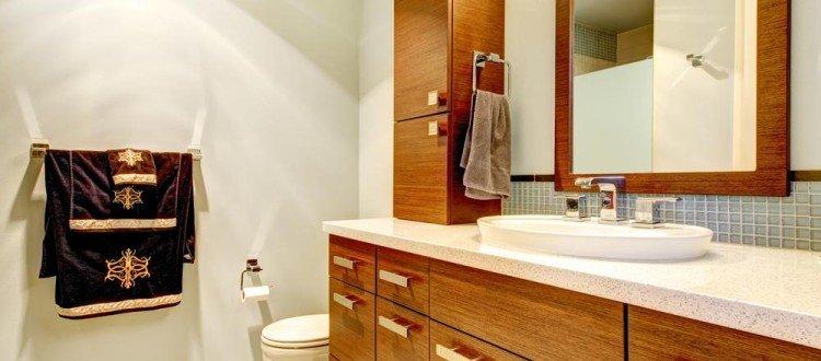 Real Wood Bathroom Cabinets