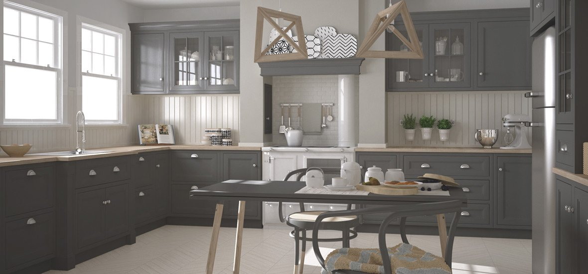 Gray Shaker Cabinets