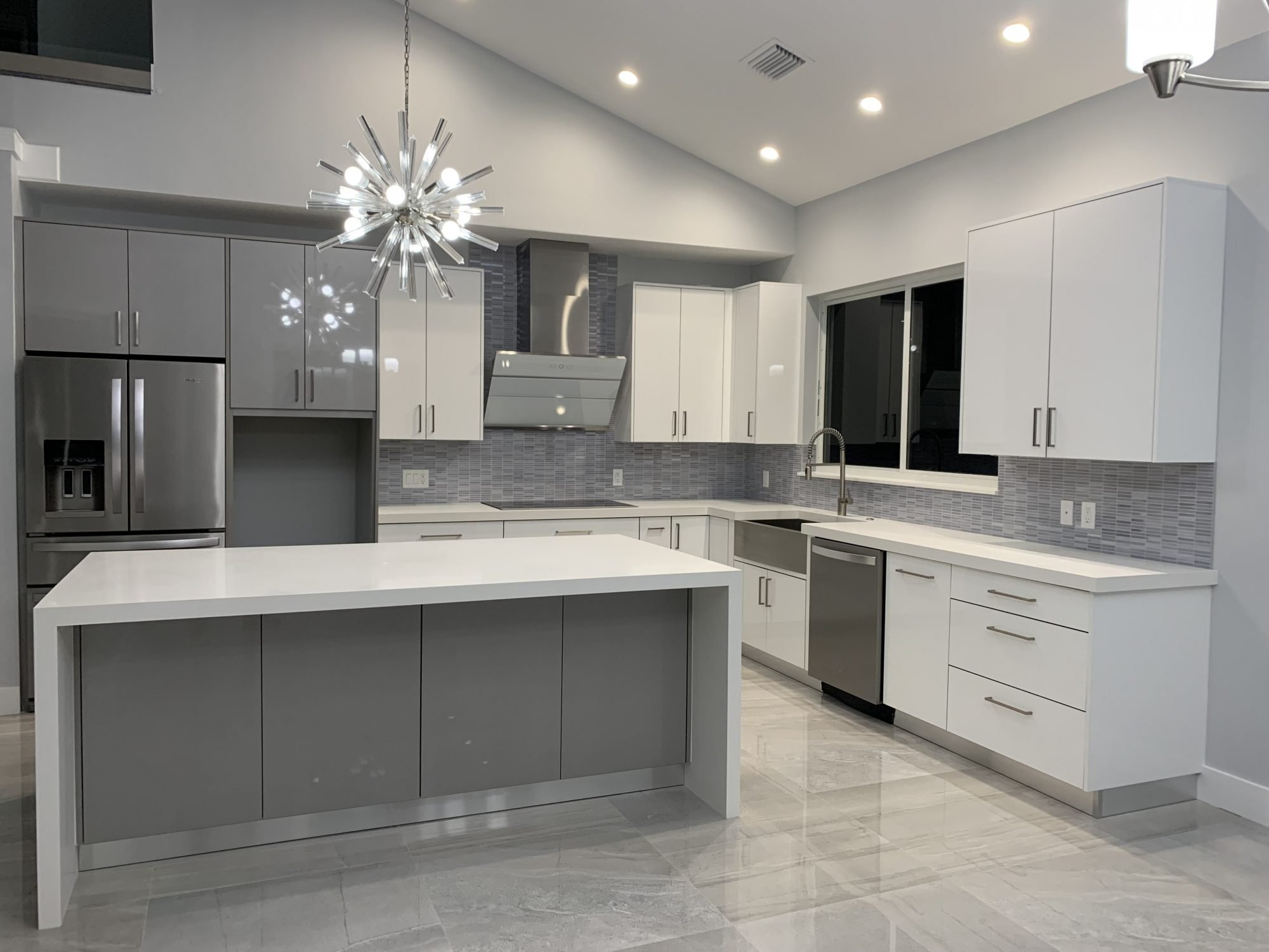 Modern Kitchen Cabinets In Miami Stone International Kitchen Installation