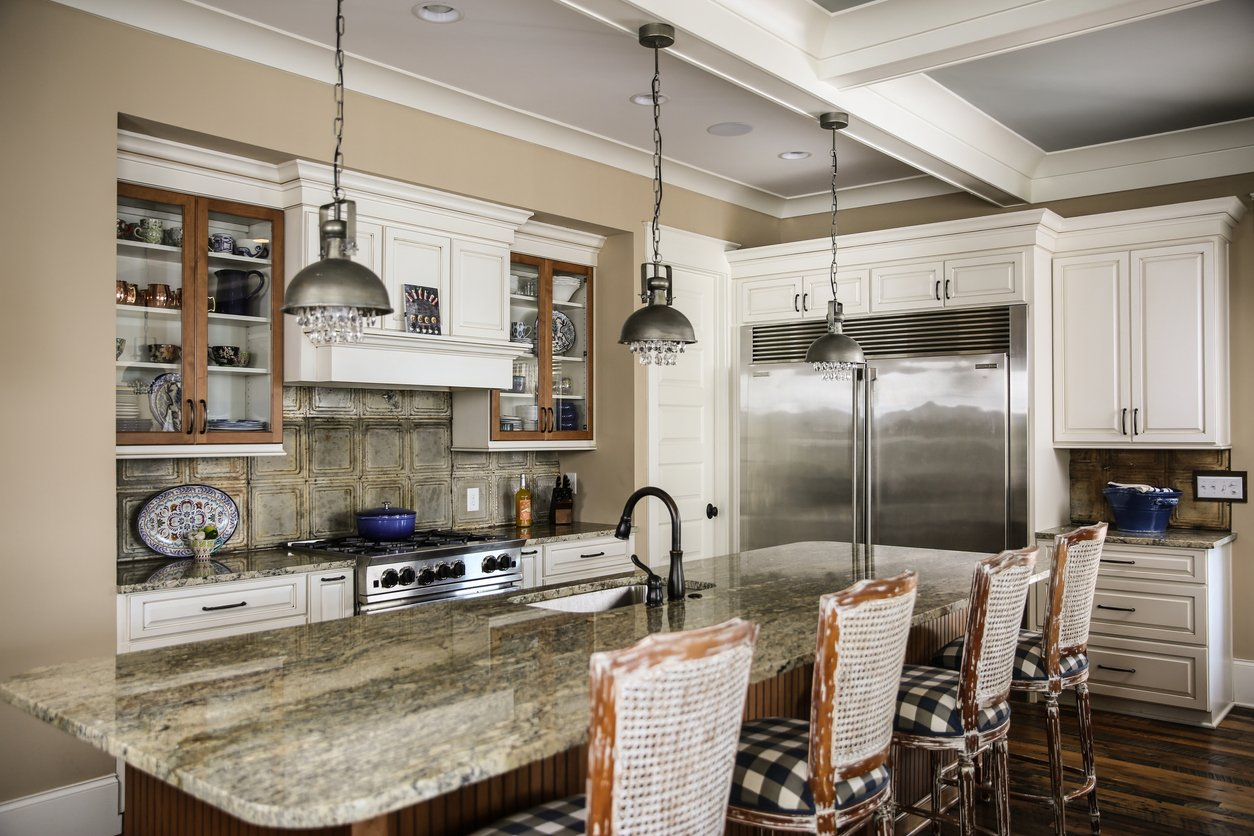 Chef's kitchen for an elite custom house on the water